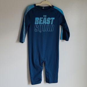 "Infant 6-9mon Under Armour ""Beast Squad"" Onesie"